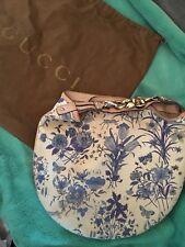 Gucci Canvas Bag Horsbit Strap Hobbo Floral Wave With Grace Kelly Print