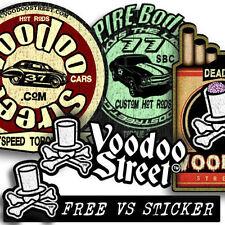 Paquete de Pegatinas Hot Rod por Voodoo Street ™, rata Look, Panel Van, T4, Camper, Bobber