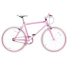 "JUNIOR SIZE FIXIE BIKE 24"" WHEEL 45CM FRAME, SINGLE SPEED, FLIP FLOP HUB PINK"