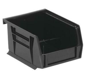6 Storage Bins, 5-3/8 X 4-1/8 X 3 inch Black Plastic Small Parts Containers