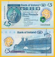 Northern Ireland 5 Pounds p-new 2017(2019) Bank of Ireland UNC Polymer Banknote