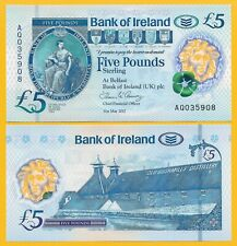 Northern Ireland 5 Pounds p-new 2017(2019) Bank of Ireland UNC Banknote