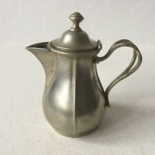 Vintage Small BACHMANN ALPACCA Tea/Coffee Pitcher With Hinged Lid - No. 56