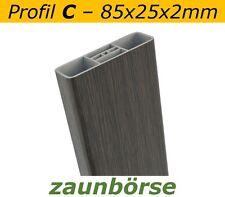 """Musterstück - Zaunlatten C (85x25x2mm) """"mooreiche"""" Profiware Gartenzaun Staketen"""