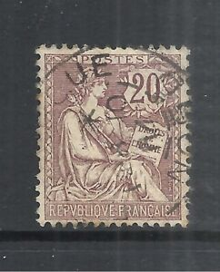 FRANCE SCOTT 135 USED F/VF - 1902 20c BROWN VIO  RIGHTS OF MAN ISSUE  CAT $14