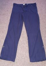 Ladies navy linen maternity trousers, size 12