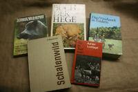 5 Fachbücher Weidwerk, Jäger, Förster, Jagdwaffen, Jagdhund, Trophäen, DDR Jagd