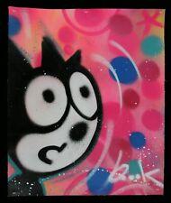 QUIK Lin Felton Original Painting on canva Signed + sticker seen cope2 jonone