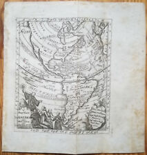 Desing Original Engraving Map Continent North and South America (A) - 1741#