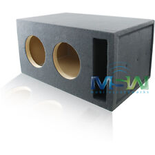 4.0 FT^3 TUNED @ 32Hz SLOT-VENTED CUSTOM MDF SUB ENCLOSURE for (2) 10-INCH SUBS