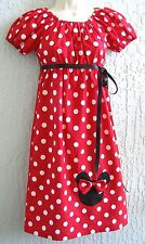 Minnie Mouse Applique 60's Insprd. Lady Dress Size S M L  Special Occasion Cute
