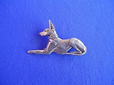 Anubis Pin Pharaoh Hound #14B Pewter Egyptian dog jewelry by Cindy A. Conter