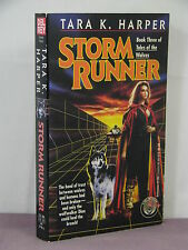 1st, signed by author,Tales of the Wolves 3: Storm Runner by Tara K Harper(1993)