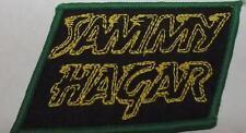 SAMMY HAGAR Yellow Logo Vintage Sew On Patch 70`s/80`s Van Halen Green Border