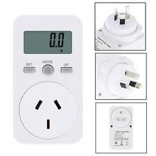 AU Plug Plug-in Digital LCD Energy Monitor Power Meter Monitoring Smart Socket