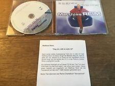 Matthias Reim / Annie Moore - Sag' Mir, Daß Es Wahr ist [MAXI CD] + PromoZettel