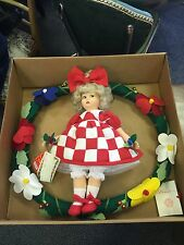 Rare Lenci Doll On Wreath 1997 New In The Box Lucky #7 Of 499 Made