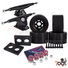 Cal 7 Longboard Flywheel 180mm Truck Bearing 97mm Black Skateboard Wheels