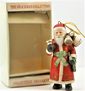 1986 Schmid Santa Claus Christmas Tree Ornament The Shackman Collection 423-001