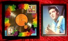 "Elvis Presley ""BLUE HAWAII""  PLATINUM RECORD AWARD  + 8 X 10 framed signed Elvis"