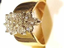 LIMITED TIME!  Diamond 14k Gold Ring with 1 TCW of 13 Brilliant SI1 Diamonds