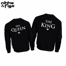 2 FELPE KING e QUEEN San Valentino Matrimonio Happiness love INNAMORATI HOODIE