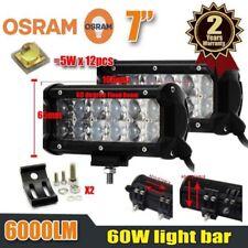 "2PCS OSRAM Dual Row 7""IN Flood LED Work Light Bar Off-Road Driving Fog Trucks CT"