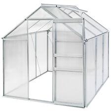 Serra da giardino in alluminio e PC per piante orto casetta esterno 190x190x195