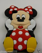 fits Iphone 4 / 4S  baby  Minnie Mouse rubber phone case Used oversized 3d