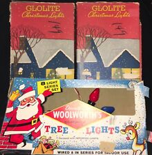 Vintage C7 Light Sets - Glolite & Woolworth'S - All Working!