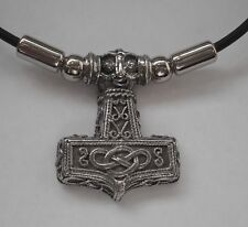 Choker #1387 THOR'S HAMMER PENDANT (31mm x 25mm) CELTIC Rubber Necklace