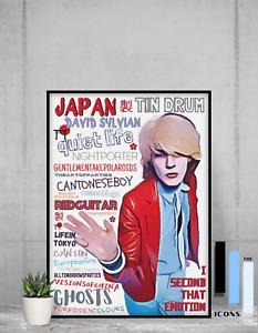 David Sylvian Japan 80's New Wave music Pop Art Poster Memorabilia/Keepsake/Gift