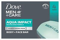 Dove Men+Care Aqua Impact Body + Face Bar - 4 bars per pack