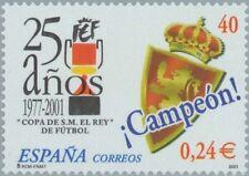 [EF0142] España 2001, XXV Aniv. Copa del Rey, 0,24€ (MNH)