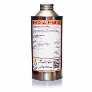 1L Shell Omala S4 WE 460 (Tivela S 460/SD) ISO VG 460 Synthetic Worm Gear Oil