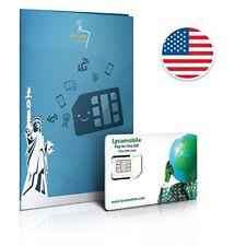 Prepaid Sim-Karte USA - 4GB 4G LTE - Unbegrenzte internationale Anrufe und Sms -