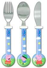 Peppa Pig: Peppa and George 3-Piece Cutlery Set | Knife, Fork and Spoon