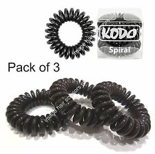 Hair Bobble Invisible by Kodo Hair Band 3 Pack No Pain Damage or Tangles. BLACK