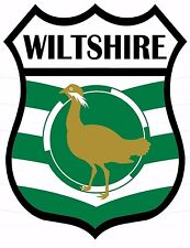 1 x Wiltshire Wilts Flag Decal Car Motorbike Laptop Window Sticker Static Cling