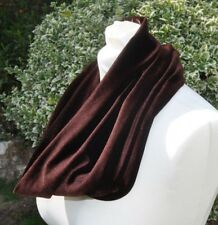 Snood/cowl Scarf stretch velvet velour chocolate brown