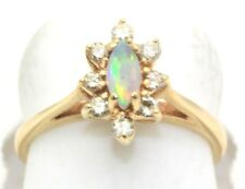 Opal Diamond Marquise Ring 14k Gold Brand New In Box