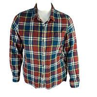 North Face Womans Plaid Shirt Button Front Long Sleeve Sz XL Multi Color
