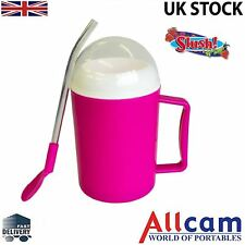 Allcam Pink Magic Ice Slush and Chilled Drinks Maker:Icy Slushie in Just Minutes