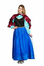Ladies Adult Anna Ice Princess Fancy Dress Costume Book Week