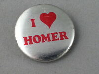 Vintage Graphic Pin - I Love Homer - Metal Pin