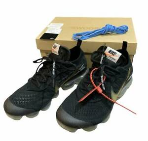 Men 11Us Nike Off-White Air Vapormax Flyknit Aa3831-002 Collaboration Sneaker