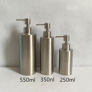 304 Stainless Steel Standing Soap Liquid Lotion Dispenser Brushed Nickel