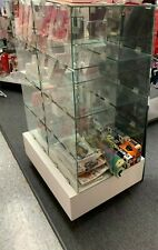 New listing Glass Retail Store Fixture Used Display White Base T-shirt, gift, collectibles