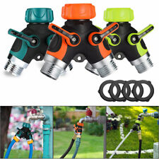 """2 Way Garden Adapter Connector 3/4"""" Y Hose Water Pipe Splitter Irrigation System"""