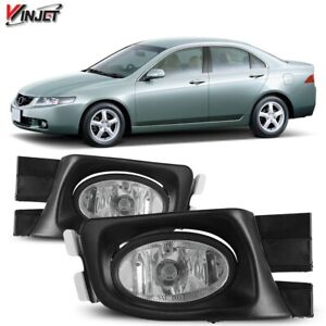 Fit 2003-2005 Honda Accord OE Style Factory Fog Light Clear Lens With Wiring Kit